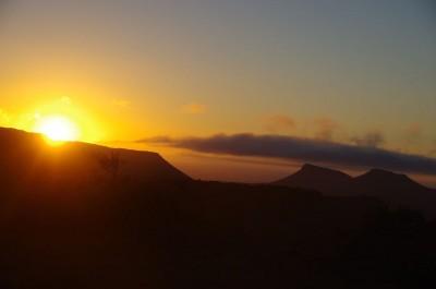 Ein fantastischer Sonnenaufgang über der Karoo