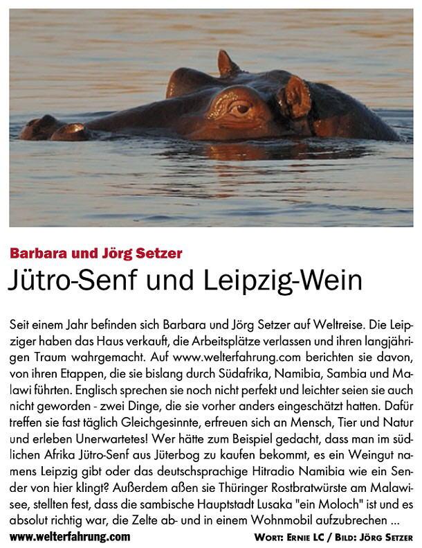 Artikel im BLITZ! Stadtmagazin, 01/2016