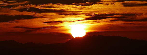 fantastischer Sonnenuntergang in der Namib