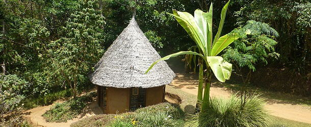 Auf der Irente-Farm kann man in originellen Hütten übernachten.