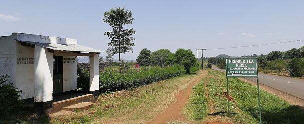 Der Werksverkauf an der Teefabrik fällt kaum auf.