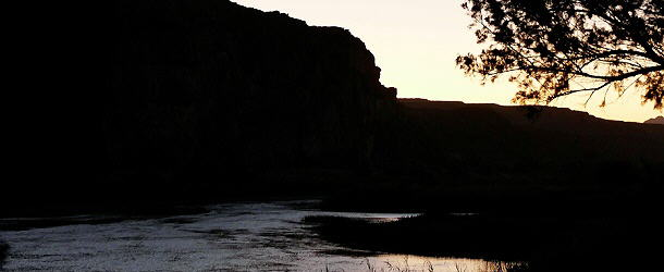 Abendstimmung am Orange River, Amanzi Camp