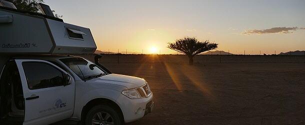 Sonnenuntergang auf der Betta Campsite