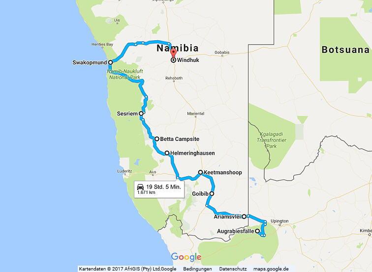 Statistik Namibia, Teil 17