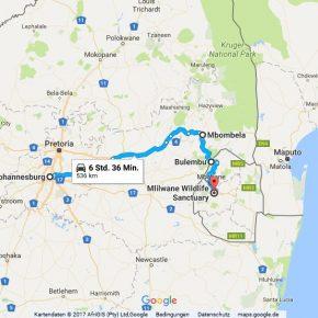 Statistik Swasiland (Johannesburg nach Mbabane)