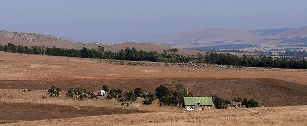 Der Campingplatz vom Malolotja Reservat liegt in einem sanften Tal.