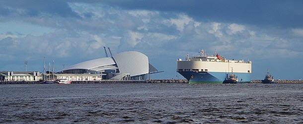 Die Hafeneinfahrt von Fremantle