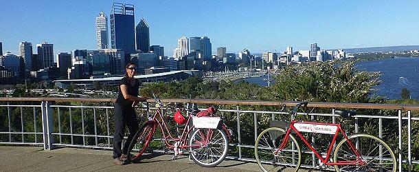 schöne Aussichten auf die Großstadt Perth