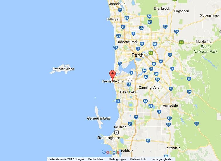 Radfahren in Australien, Westaustralien, Fremantle - Perth