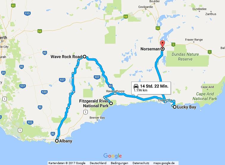 Statistik Australien Teil 2, Albany - Norseman