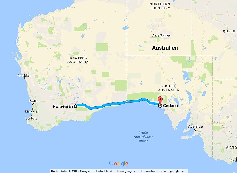 Statistik Australien Teil 3, Norseman – Ceduna, Nullarbor-Passage