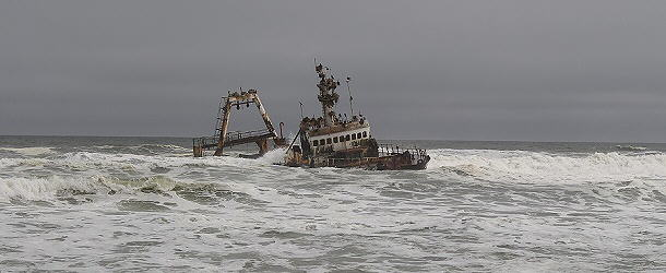 Schiffswrack nördlich von Henties Bay