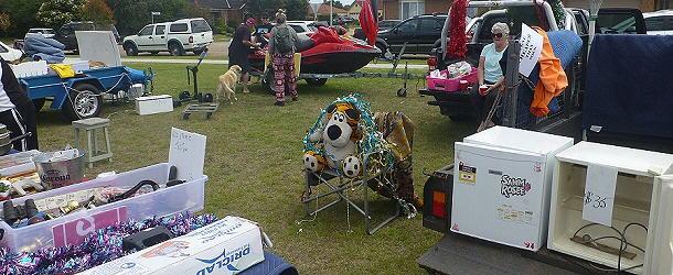 Der Weihnachtsmarkt in Paynesville glich eher einem Flohmarkt