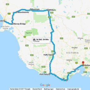 Statistik Australien Teil 6, Adelaide - Melbourne entlang des Murray River