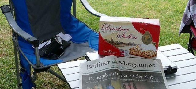 Dresdner Christstollen und Berliner Morgenpost
