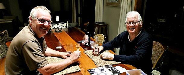 Jörg und Jörg beim Weinplausch