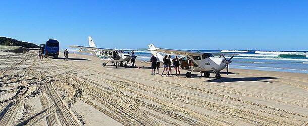Der Strand von Fraser Island wird vielseitig genutzt