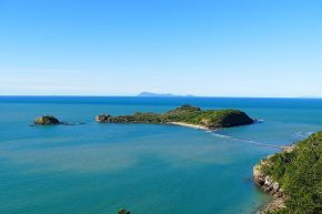 Wedge Island ist eine ehemalige Vulkaninsel...