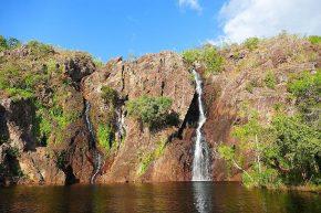 Auch in der Trockenzeit eine Augenweide – die Wangi Falls.