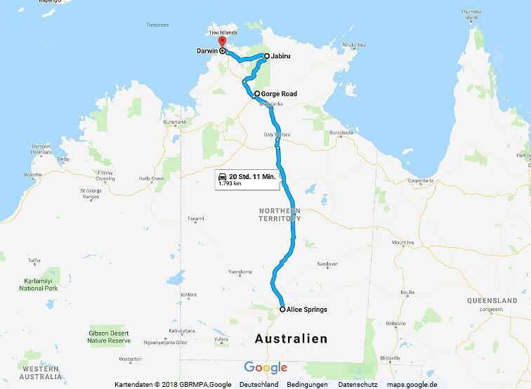 Australien Statistik Teil 12, Alice Springs - Darwin