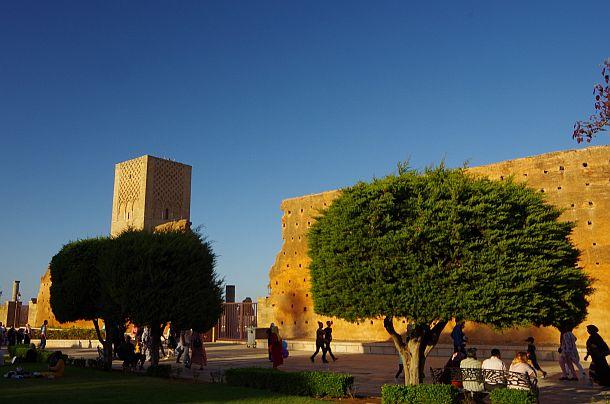 Licht und Schatten in Rabat, der Hauptstadt Marokkos